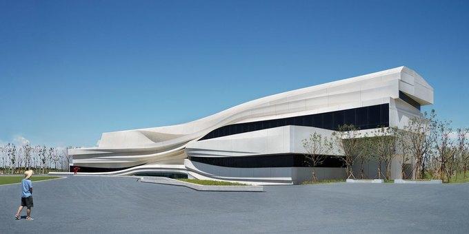 Архитектура дня: музей в Китае сбелым «слоёным» фасадом. Изображение № 7.