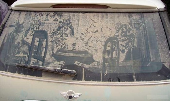 Рисунки напыльных стёклах. Изображение № 12.