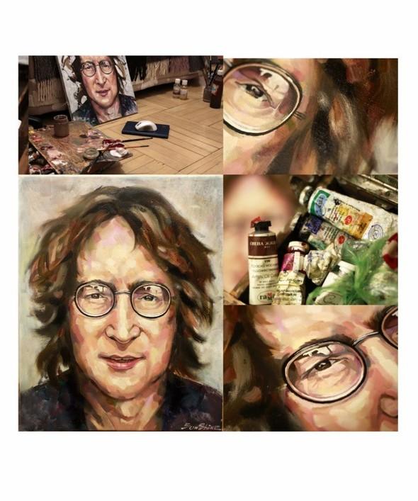 John Lennon Холст,масло. Изображение №2.