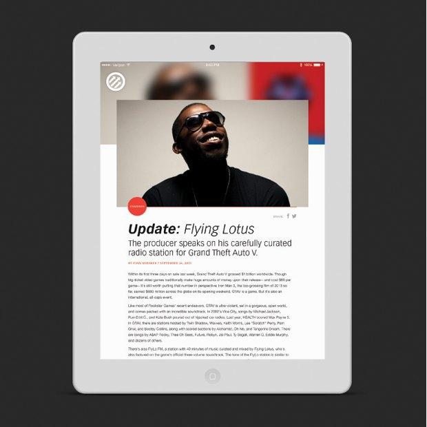 Pitchfork запускает новое мобильное приложение. Изображение № 3.