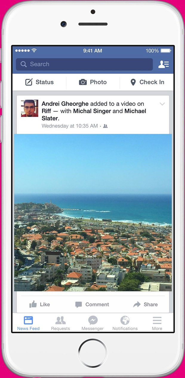 Facebook выпустил приложение для коллективных видео. Изображение № 3.