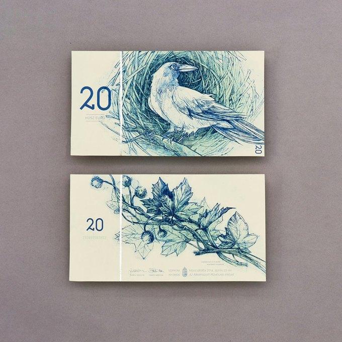 Концепт дня: банкноты несуществующих венгерских евро. Изображение № 6.