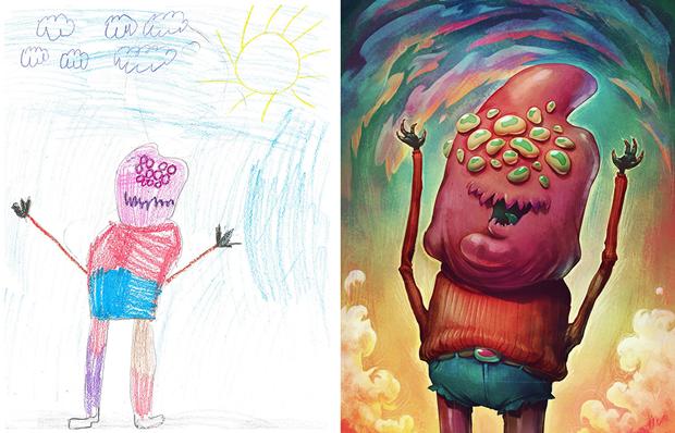 Художники создали монстров наоснове детских рисунков. Изображение № 2.