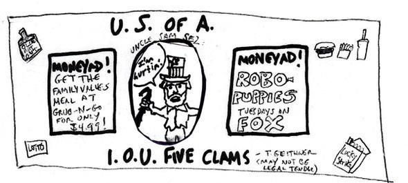 4 работы поредизайну доллара. Изображение № 4.