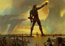 7 чудес света. Колосс Родосский. Изображение № 1.