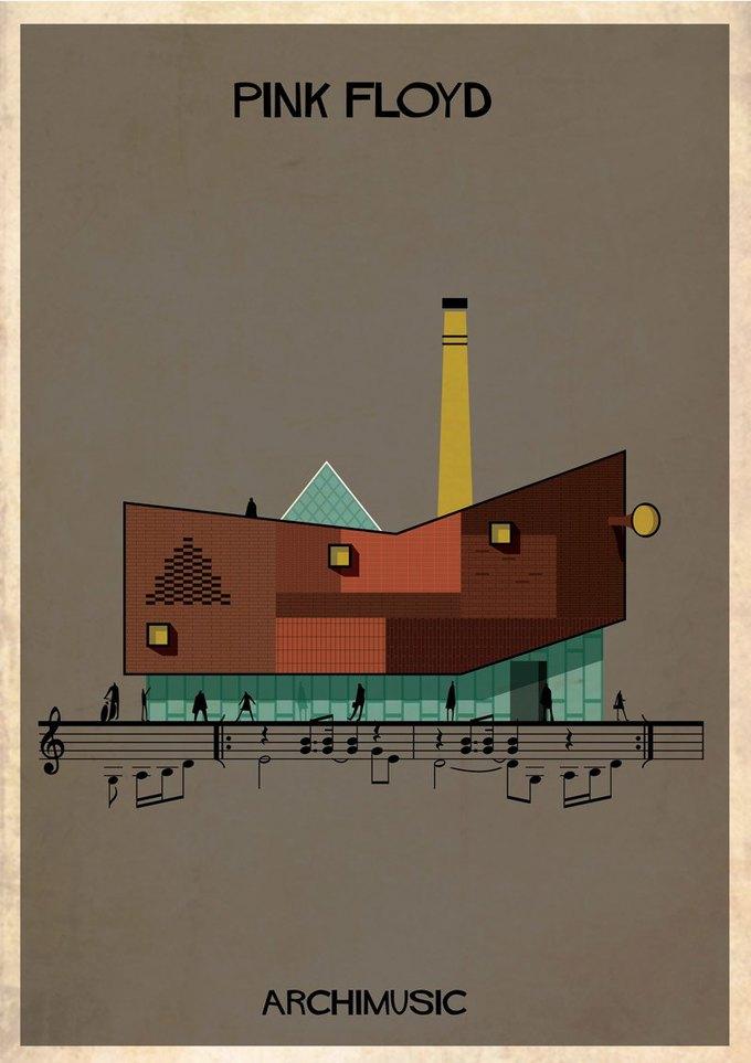 Испанский архитектор превратила песни в здания для новой серии плакатов . Изображение № 9.