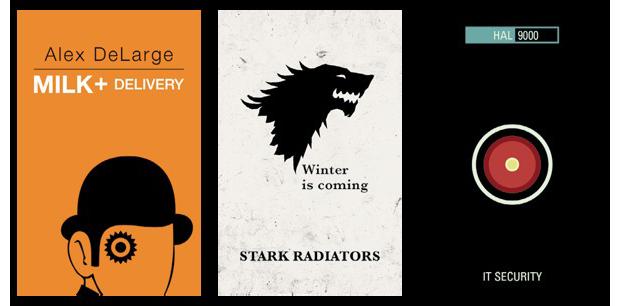 Дизайнеры создали визитные карточки героев Голливуда. Изображение № 5.