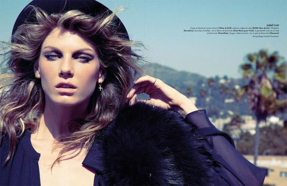 Съемка: Анджела Линдвалл для французского Elle. Изображение № 4.