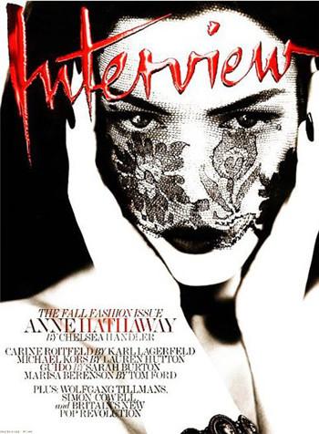 Энн Хэтэуэй в свежем номере журнала Interview. Изображение № 1.