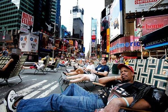 Площадь Таймс-сквер стала пешеходной. Изображение № 1.