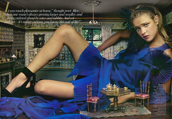 Архивная съемка: Наталья Водянова для американского Vogue 2003. Изображение № 2.