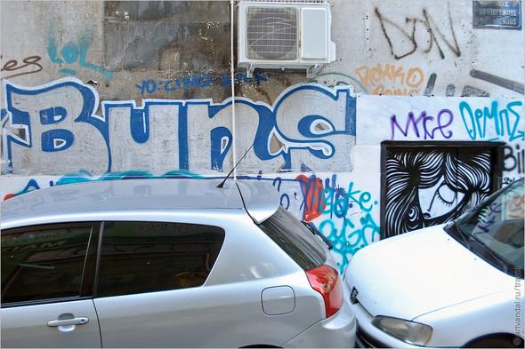 Стрит-арт и граффити Афин, Греция. Часть 2. Изображение № 4.