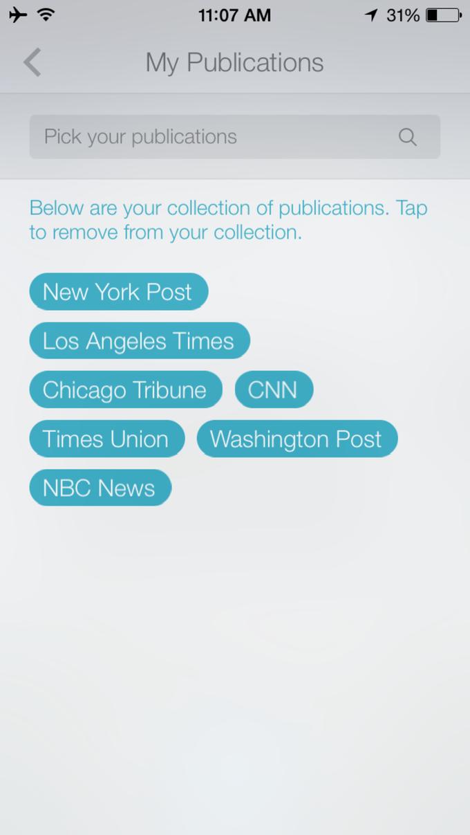 Издатель Chicago Tribune представил мобильный новостной аудиоагрегатор . Изображение № 5.