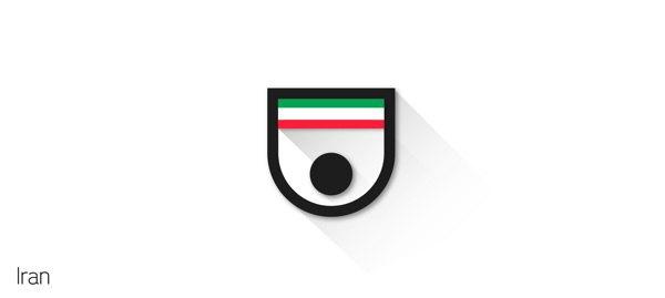 Представлены «плоские» версии гербов национальных сборных . Изображение № 29.