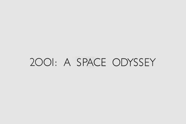 Логотип из титров или трейлера фильма «2001 год: Космическая одиссея». Использованы Gill Sans, Futura. Изображение № 27.