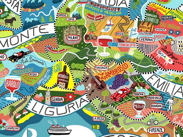 Винная карта Италии от Antoine Corbineau. Изображение № 9.