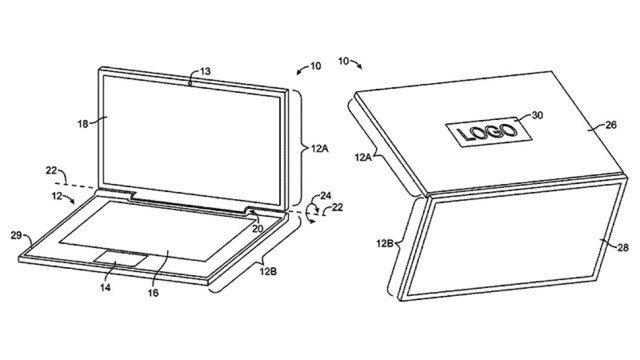 Apple запатентовала ноутбук на солнечных батареях. Изображение № 1.