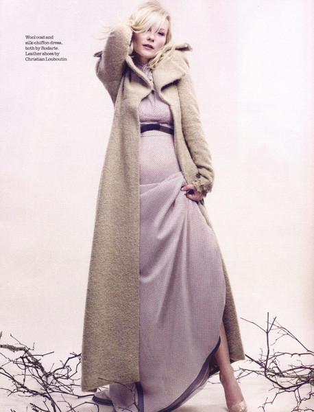 Съёмка: Кирстен Данст для Elle. Изображение № 2.