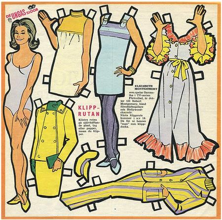 Бумажные куклы 1960-х годов!. Изображение № 4.
