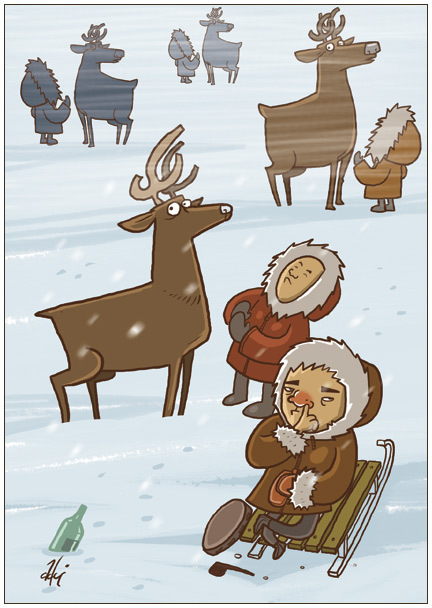 Ироничные иллюстрации Сергея Ратникова. Изображение № 12.
