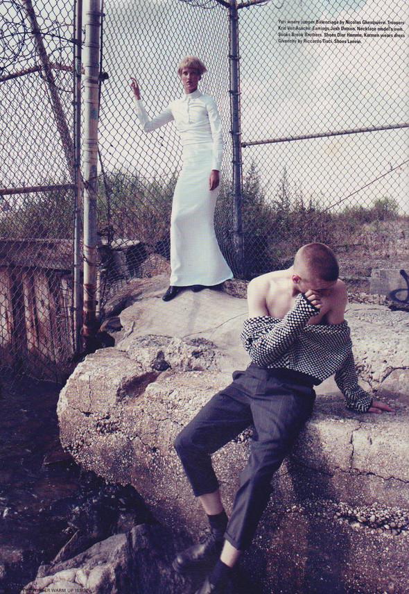 Съёмка: Юрий Плескун и Кармен Педару для i-D. Изображение № 7.