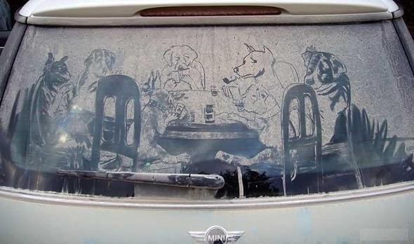 Рисунки напыльных стёклах. Изображение № 11.