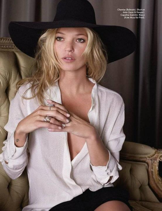 Съемка: Кейт Мосс для Elle Франция. Изображение № 7.