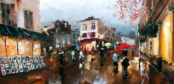 Красные зонтики художника Kal Gajoum. Изображение № 5.