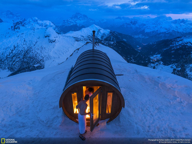Сауна на высоте 2800 метров в Доломитовых Альпах / Автор: Stefano Zardini. Изображение № 4.