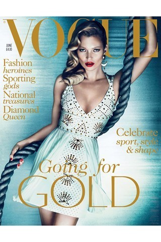 Kate Moss/Vogue UK/June 2012. Изображение № 1.