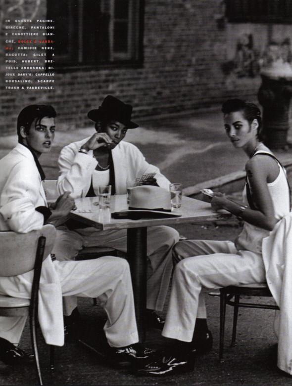 Архивная съёмка: Линда Евангелиста, Наоми Кемпбелл и Кристи Терлингтон для Vogue. Изображение № 7.