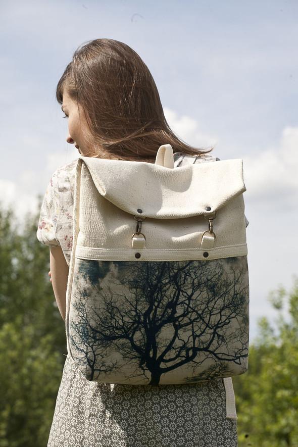БЕЛОЕ — рюкзаки и сумки из грубого белого хлопка. Изображение № 27.