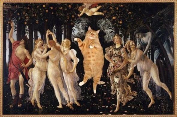 Новый взгляд на полотна великих художников. В главной роли кот. Изображение № 8.