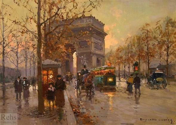 Эдуард Леон Кортес. Перенесёмся в Париж. Изображение № 5.