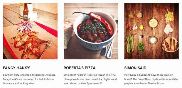 Приложение подбирает плейлисты для приготовления пищи. Изображение № 1.