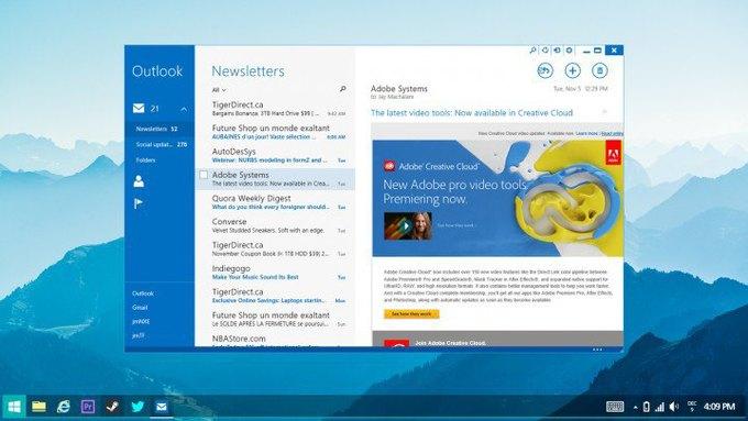 Неофициальная концепция Windows 8 авторства дизайнера Джея Махалани, которая отчасти демонстрирует будущие изменения операционной системы Microsoft. Изображение № 3.