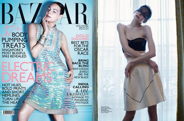 Kinga Rajzak by John-Paul Pietrus in Chanel for Harpers Bazaar. Изображение № 1.