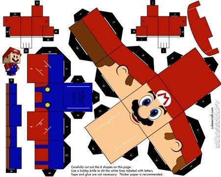 Cubeecraft бумажные герои своими руками. Изображение № 2.