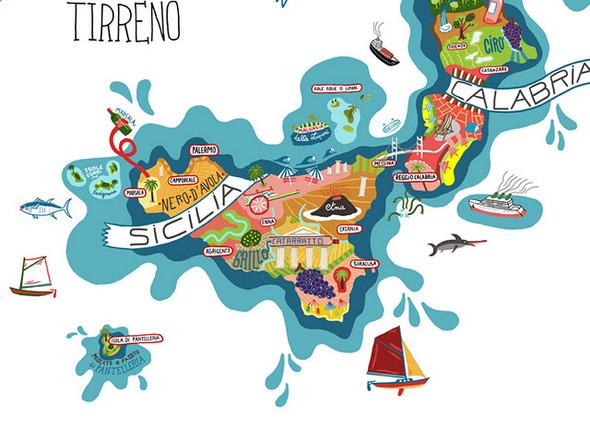 Винная карта Италии от Antoine Corbineau. Изображение № 2.