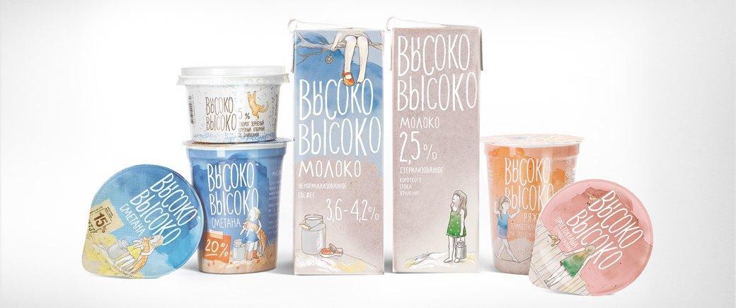 Проект агентства Depot WPF: упаковка молочных продуктов «Высоко-высоко». Изображение № 13.