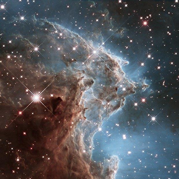 Регион туманности NGC 2174 (Туманность Голова обезьяны), снятый с телескопа Hubble . Изображение № 14.