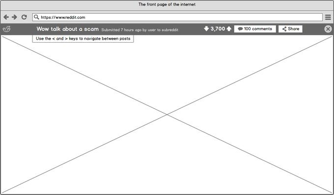 Схема страницы поста. Изображение № 7.