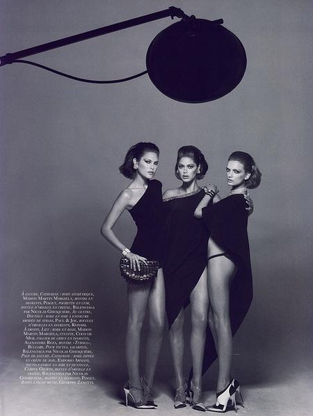 Новая черно-белая фотосерия Питера Линдберга (Vogue). Изображение № 4.