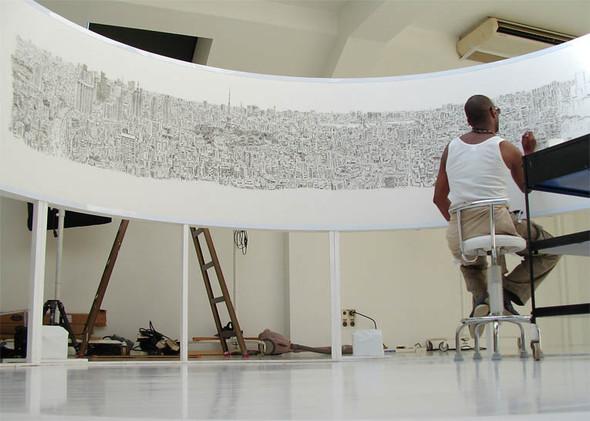 Стивен Вилтшер. Художник рисующий панорамы городов по памяти. Изображение №18.