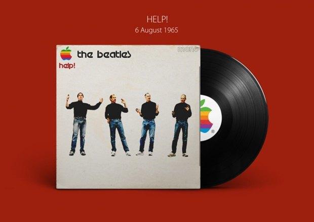 Обложки альбомов The Beatles перерисовали в стиле Apple. Изображение № 3.