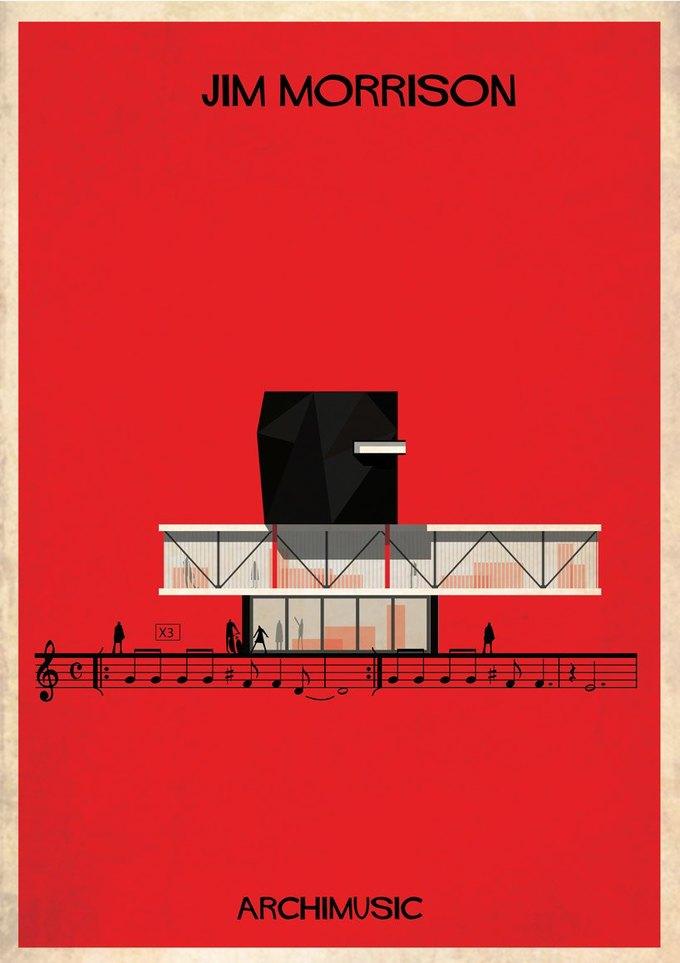 Испанский архитектор превратила песни в здания для новой серии плакатов . Изображение № 13.