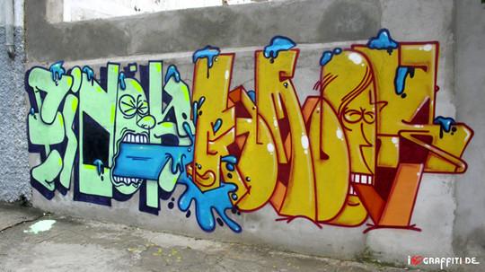 Граффити художники Os Gmeos о творческом пути. Изображение № 23.