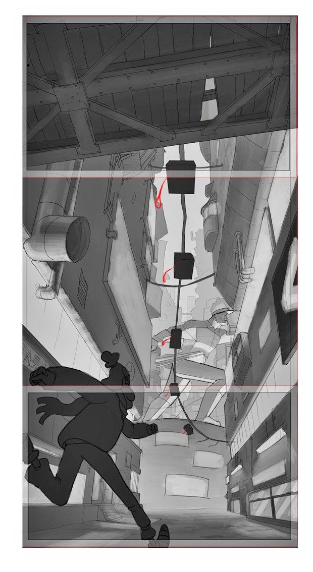 Анимация: бродяга спасает пса встимпанковском городе. Изображение № 32.