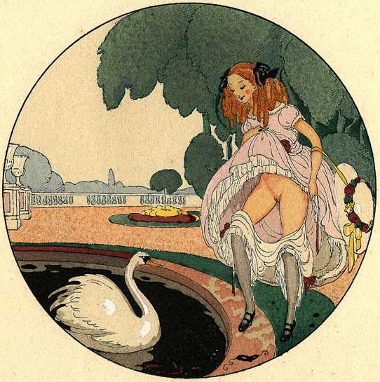 Gerda Wegener, лесбийская эротика в миниатюре. Изображение № 8.