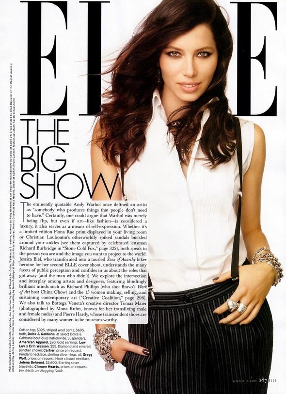 Съёмка: Джессика Бил для Elle. Изображение № 2.